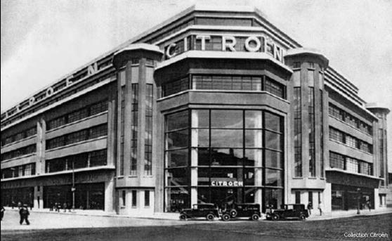 Le garage Citroên, de Lyon en 1932 tout juste après son ouverture