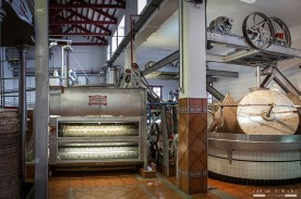 The two modern presses installed by the Nunez de Prado Olive Oil Factory