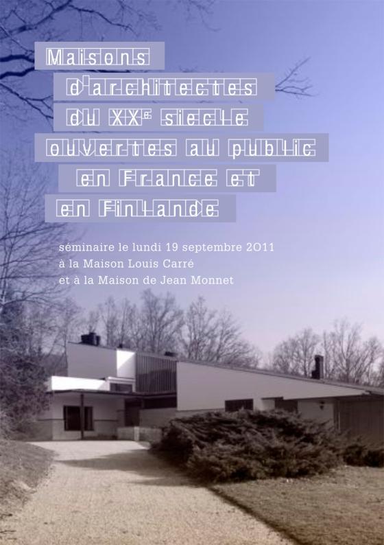 Alvar Aalto en France, seminaire invitation