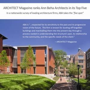 Ann Beha, membre du jury RMHF 2010, dans le Magazine « Architect » deAIA