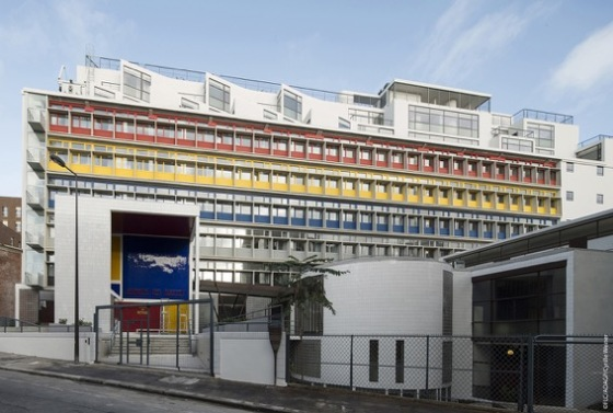 Cité de Refuge (Le Corbusier, 1929) following renovation. Main entry, south façade, Nov. 2015 © ADAGP-FLC / Cyrille Weiner